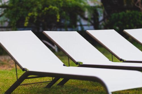 Villa Ariadne garden sunbeds
